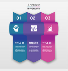 three infographic elements ribbons arrows vector image
