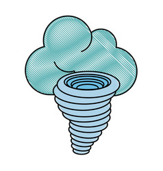tornado weather disaster vector image
