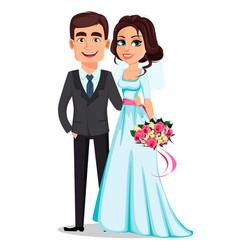 wedding couple marriage concept vector image