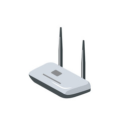 wifi internet router isometric 3d icon vector image