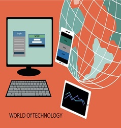 world of technology vector image