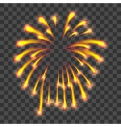 Yellow firework icon realistic style vector image
