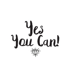 Yes you can Greeting card with modern vector image
