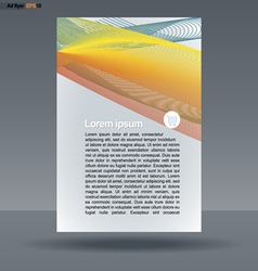 Abstract print A4 design with colored lines vector image