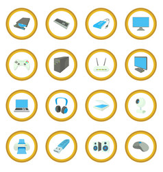 computer equipmen icon circle vector image