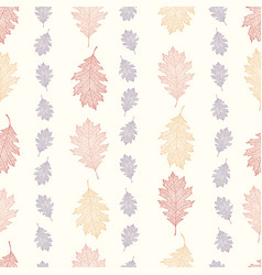 vintage pattern from the leaves of red oak vector image vector image