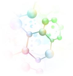 abstract molecule vector image