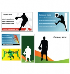basketball cards vector image vector image
