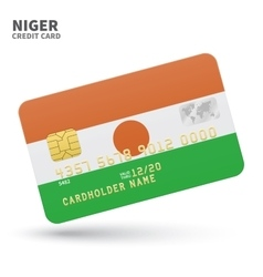 Credit card with Niger flag background for bank vector image