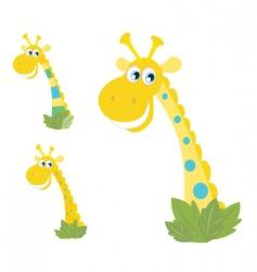 giraffe heads vector image vector image