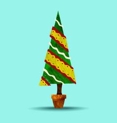 green holiday christmas tree plant vector image vector image