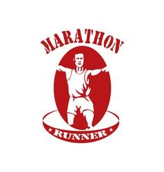 marathon runner run race vector image vector image