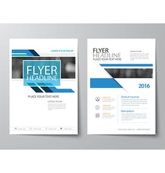 blue annual report brochure flyer flat design vector image vector image