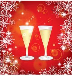 Christmas champagne vector image