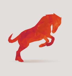 horse polygon silhouette vector image