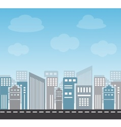large city in the afternoon vector image