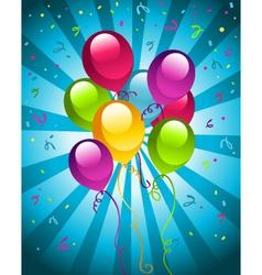 Birthday balloons vector