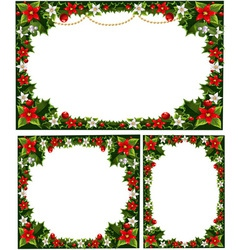 collection of beautiful decorative frames vector image vector image