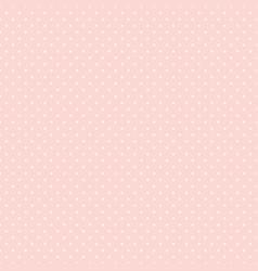 Polka dot seamless pattern white dots on pink vector