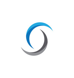 s letter logo icon design template vector image vector image