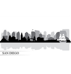 san diego city skyline silhouette background vector image vector image