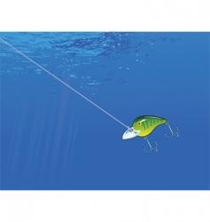 underwater lure vector image
