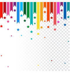 Abstract background colorful rainbow line vector