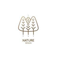 abstract pattern logo forest vector image