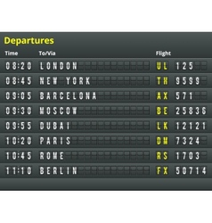 Airport departures table vector image