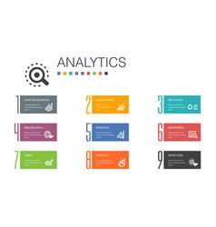 Analytics infographic 10 option line concept vector
