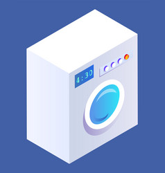 Appliance in bathroom machine for doing laundry vector