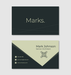 architect business card vector image
