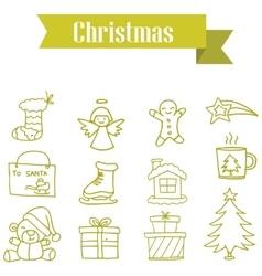 Art of Merry Christmas set vector