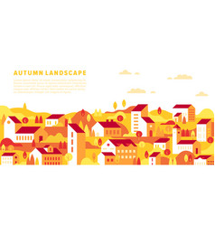 autumn fall cityscape vector image