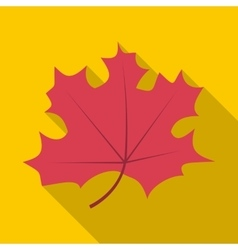 Autumn leaf icon flat style vector