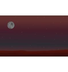 beautiful space landscape vector image