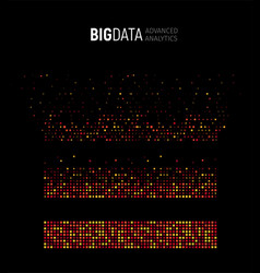 big data abstract visualization lines and vector image
