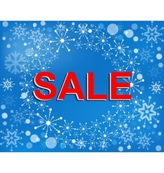 Big winter sale poster with SALE text Advertising vector image