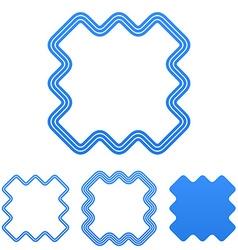Blue line marketing logo design set vector