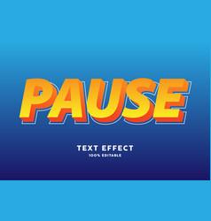 bold yellow orange text effect vector image
