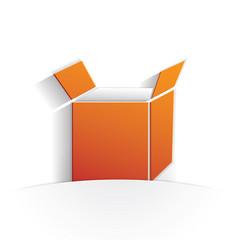 box icon paper vector image