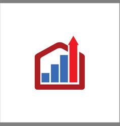 Business construction arrow logo vector