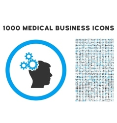 Business Idea Icon with 1000 Medical Business vector