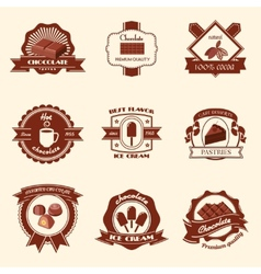 Chocolate labels set vector image