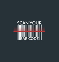 concept scan bar code of the product vector image