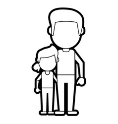 dad and son design vector image