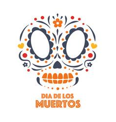 day dead sugar skull vector image