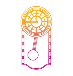 degraded line cirrus oak wall clock design vector image