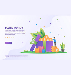 Earn point concept loyalty program and get vector