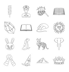 education technology guard and other web icon in vector image